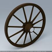 drewniane koło 3d model