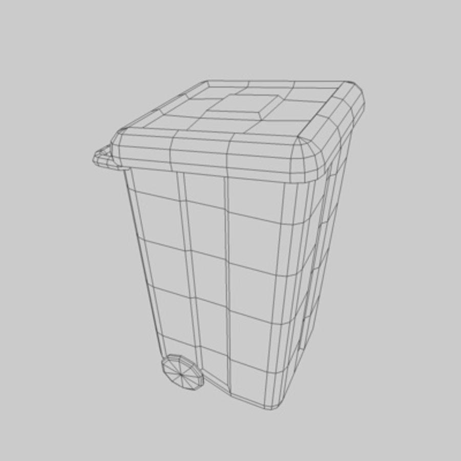 garbage bin royalty-free 3d model - Preview no. 2