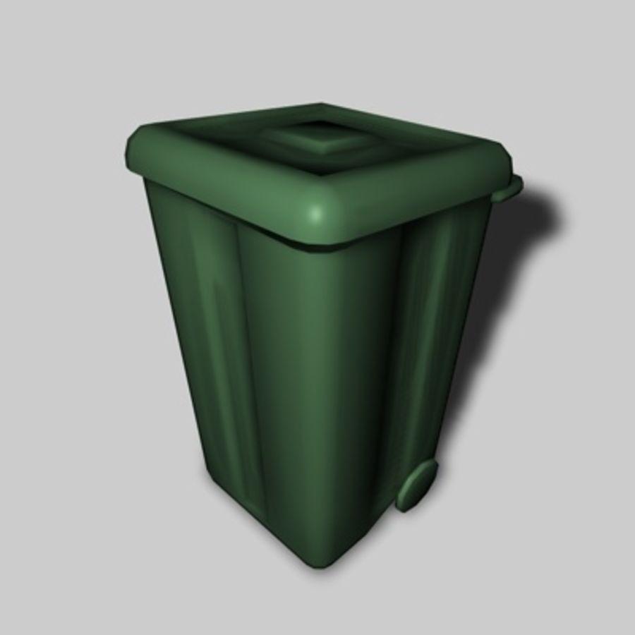 garbage bin royalty-free 3d model - Preview no. 3