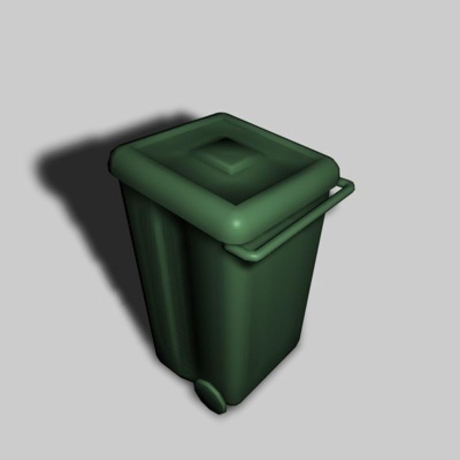 garbage bin royalty-free 3d model - Preview no. 1