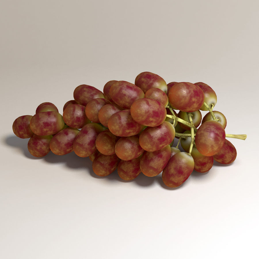 Red Grapes royalty-free 3d model - Preview no. 2
