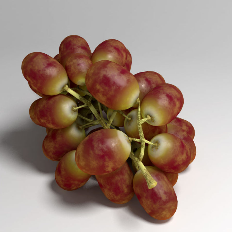 Red Grapes royalty-free 3d model - Preview no. 4