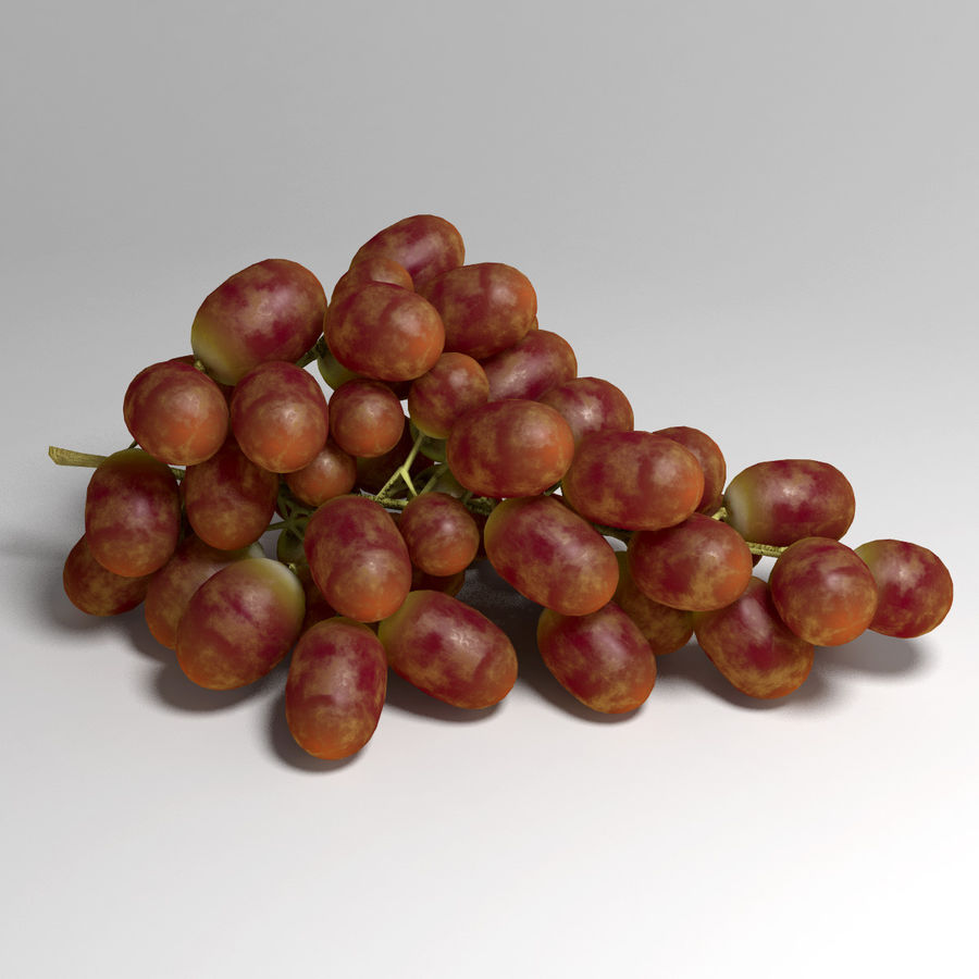 Red Grapes royalty-free 3d model - Preview no. 3