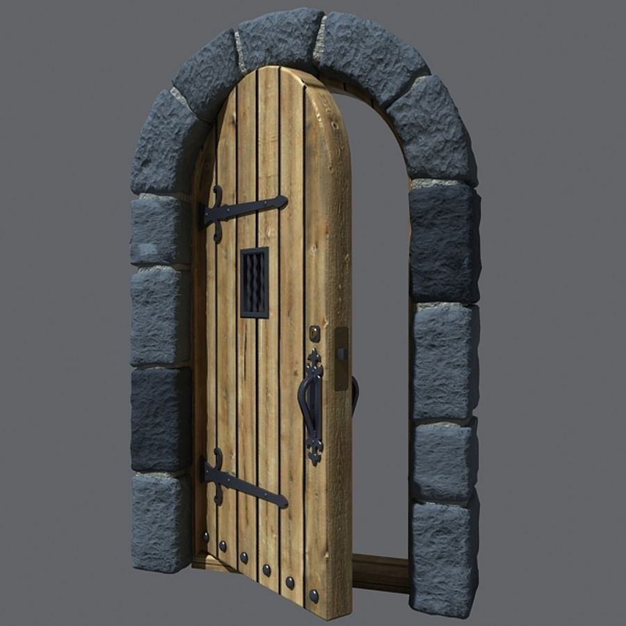 1 Castle Door royalty-free 3d model - Preview no. & Castle Door 3D Model $20 - .c4d .fbx .max .3ds - Free3D