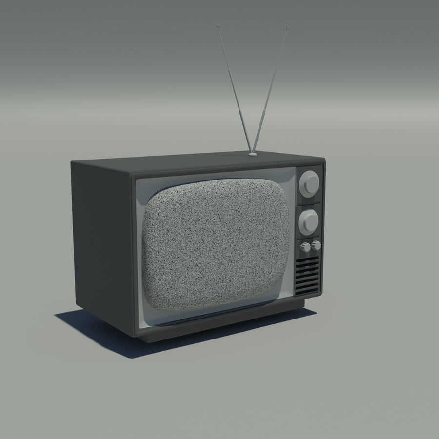televisión vieja royalty-free modelo 3d - Preview no. 1