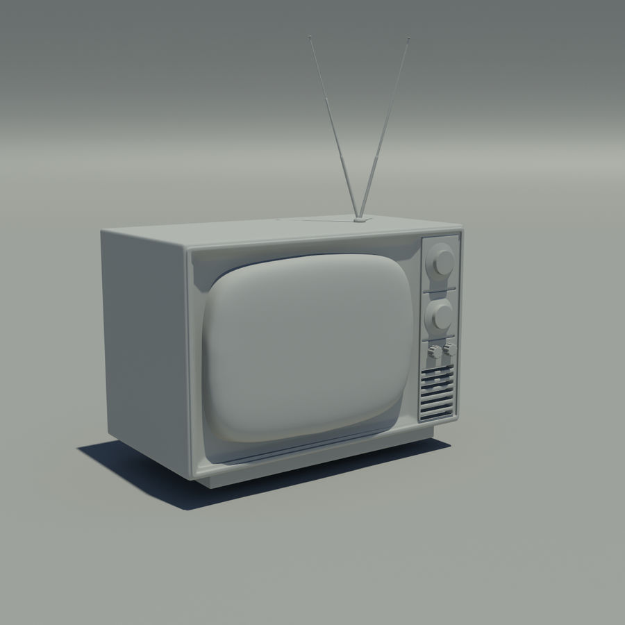 oude televisie royalty-free 3d model - Preview no. 2