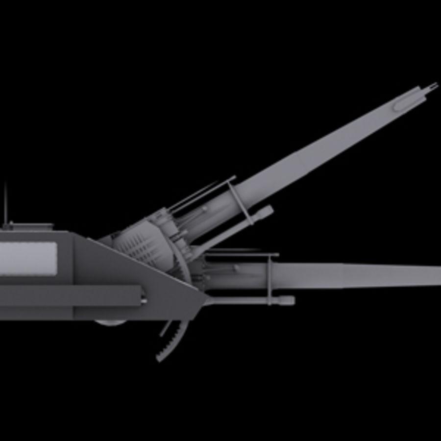 砲兵タレット royalty-free 3d model - Preview no. 4