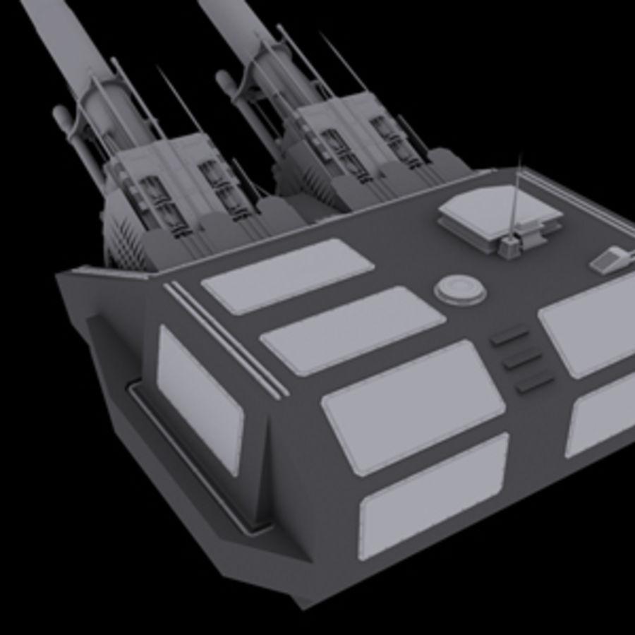 砲兵タレット royalty-free 3d model - Preview no. 3