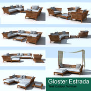 Gloster Estrada teak deep seating 3d model
