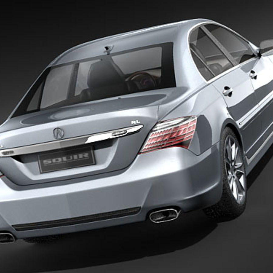 Acura RL 2009 royalty-free 3d model - Preview no. 6