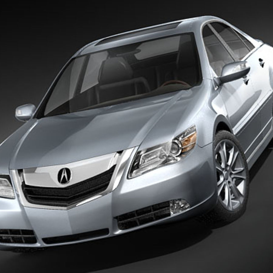 Acura RL 2009 royalty-free 3d model - Preview no. 2