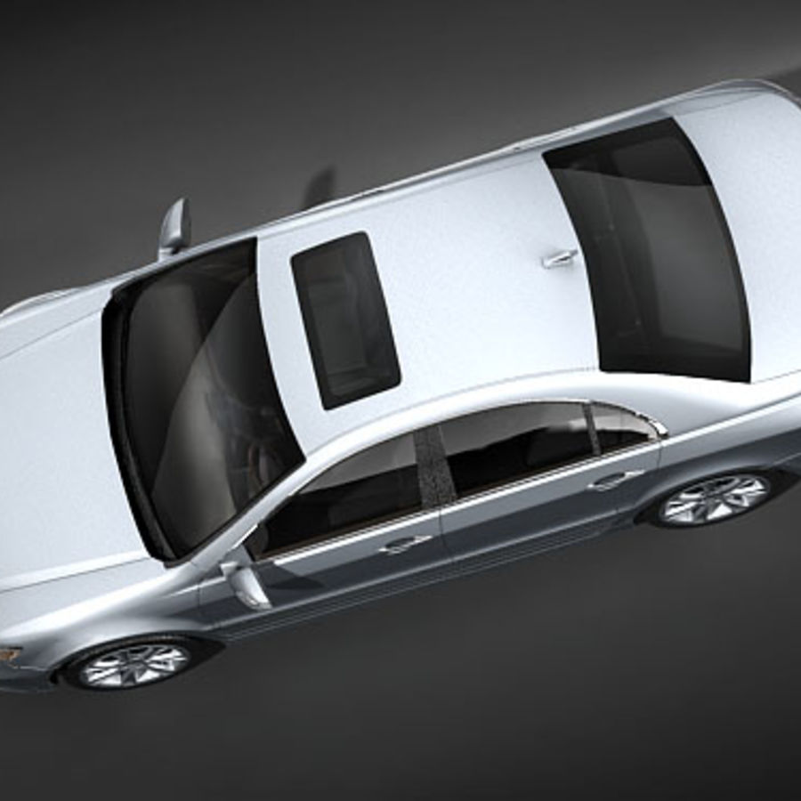 Acura RL 2009 royalty-free 3d model - Preview no. 8