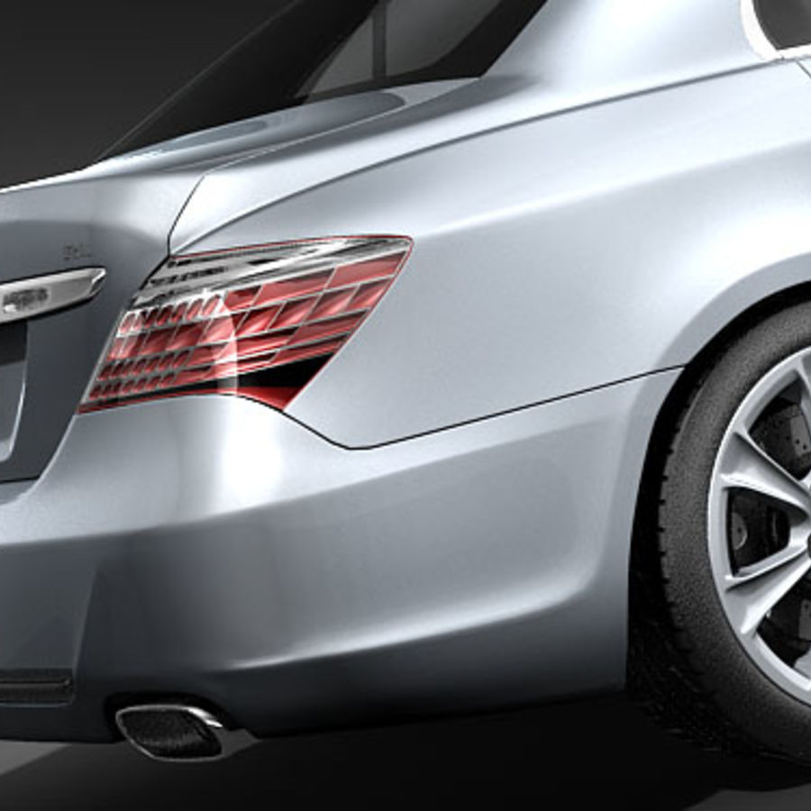 Acura RL 2009 royalty-free 3d model - Preview no. 4