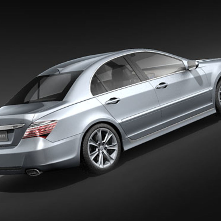 Acura RL 2009 royalty-free 3d model - Preview no. 5