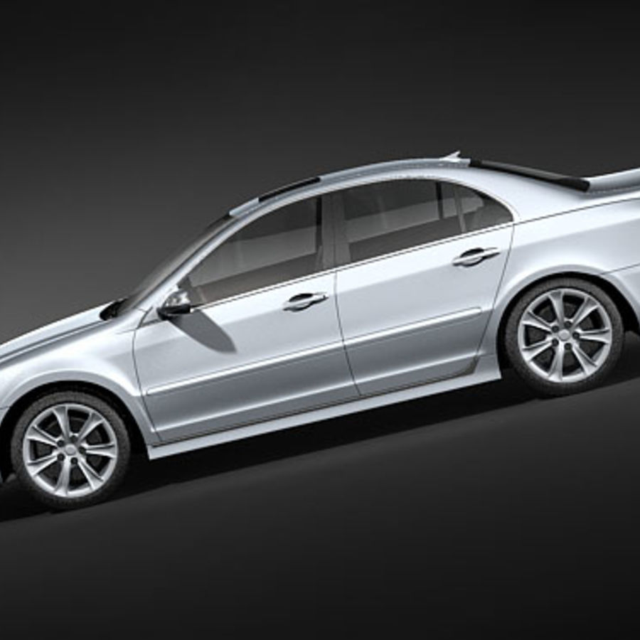 Acura RL 2009 royalty-free 3d model - Preview no. 7