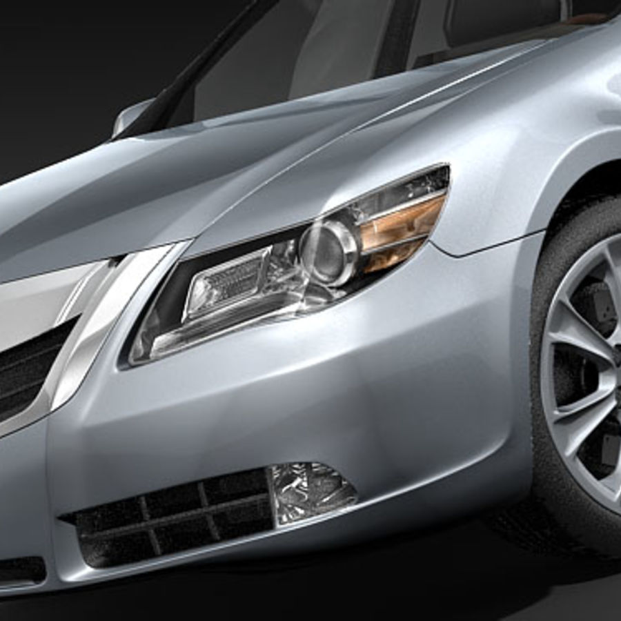 Acura RL 2009 royalty-free 3d model - Preview no. 3