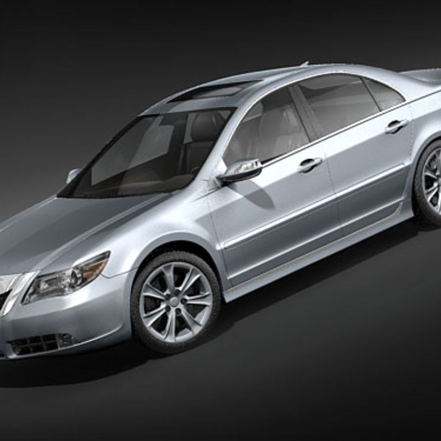 Acura RL 2009 royalty-free 3d model - Preview no. 1