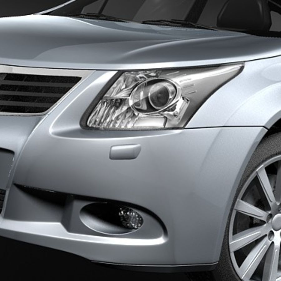 Toyota Avensis 2009 royalty-free 3d model - Preview no. 3