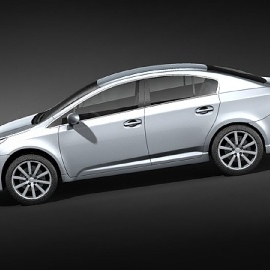 Toyota Avensis 2009 royalty-free 3d model - Preview no. 7