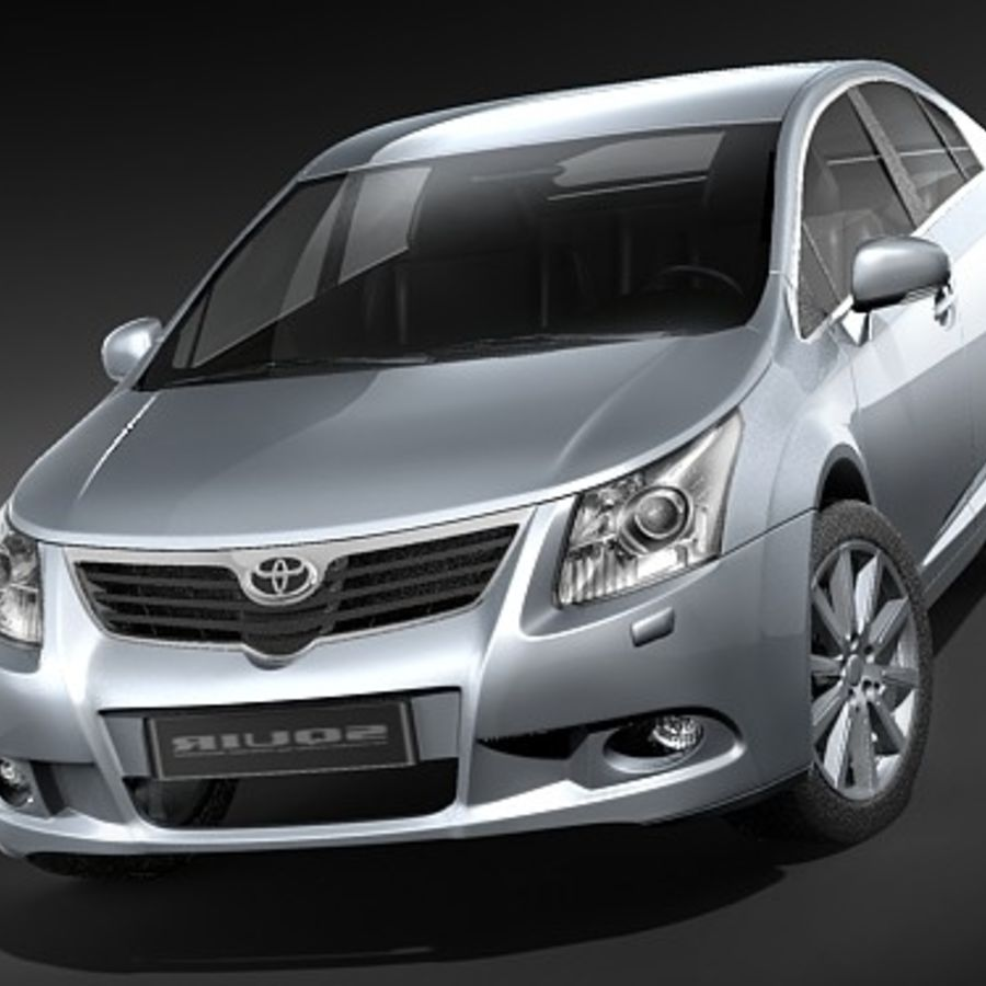 Toyota Avensis 2009 royalty-free 3d model - Preview no. 2