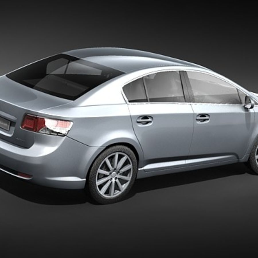Toyota Avensis 2009 royalty-free 3d model - Preview no. 5