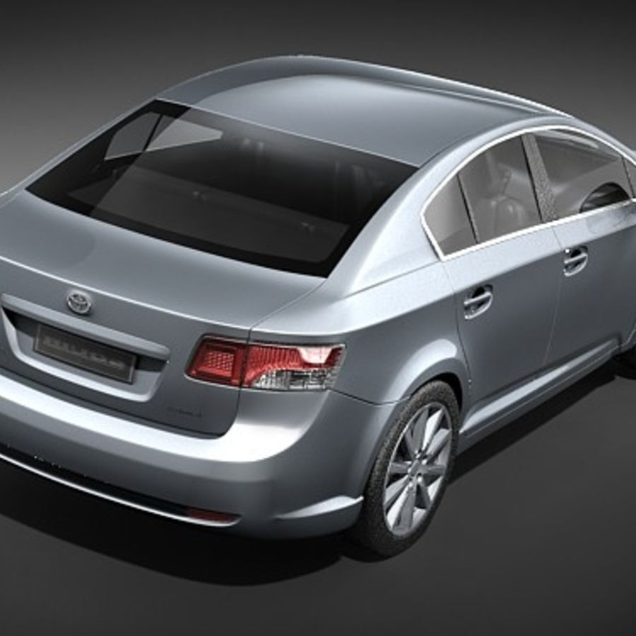 Toyota Avensis 2009 royalty-free 3d model - Preview no. 6