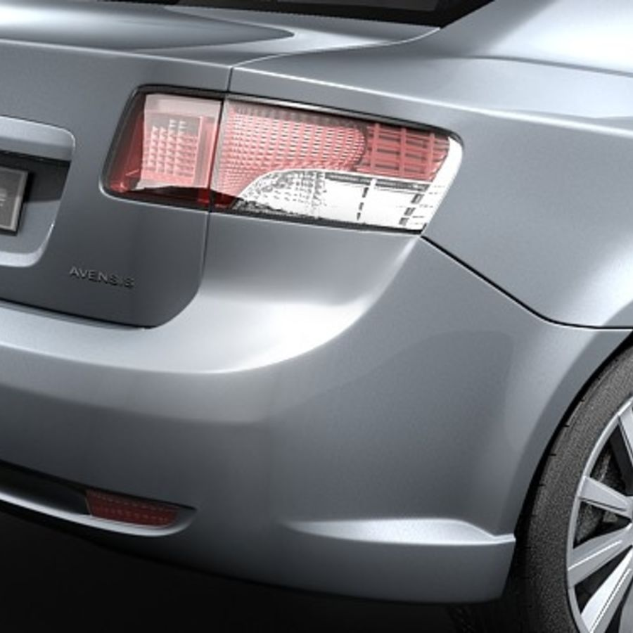 Toyota Avensis 2009 royalty-free 3d model - Preview no. 4