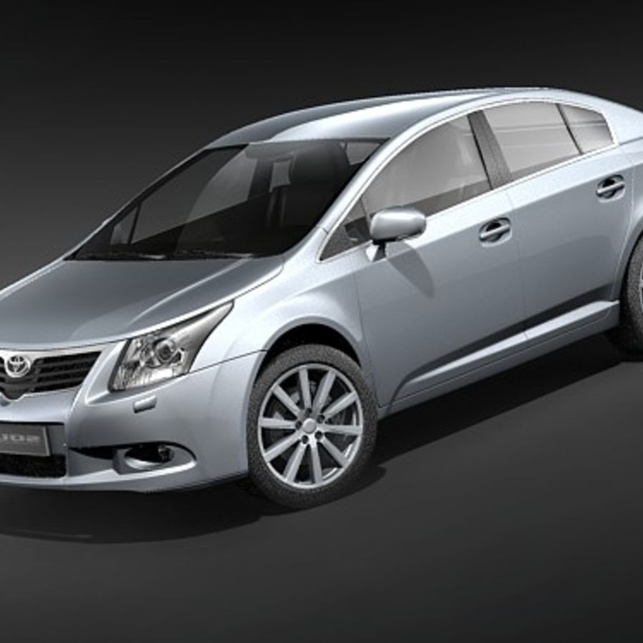 Toyota Avensis 2009 royalty-free 3d model - Preview no. 1