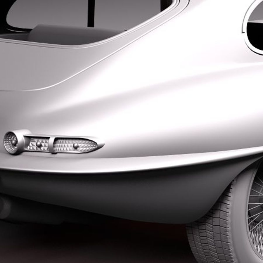 Ягуар E-type 1962 купе royalty-free 3d model - Preview no. 9