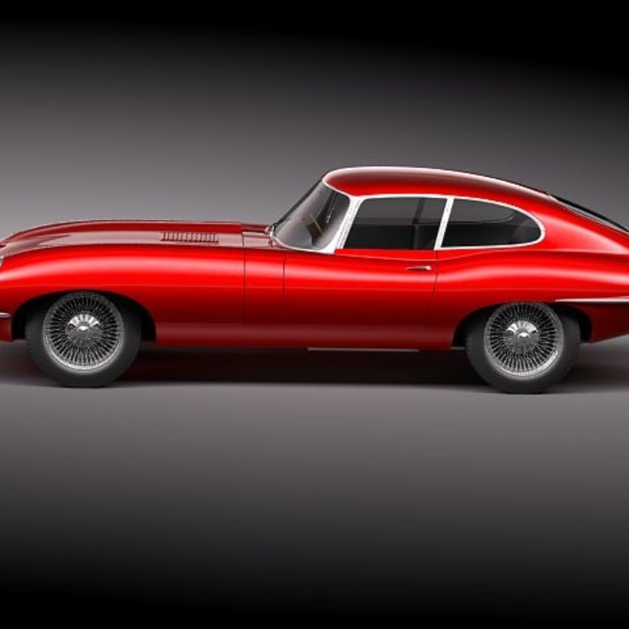 Ягуар E-type 1962 купе royalty-free 3d model - Preview no. 7
