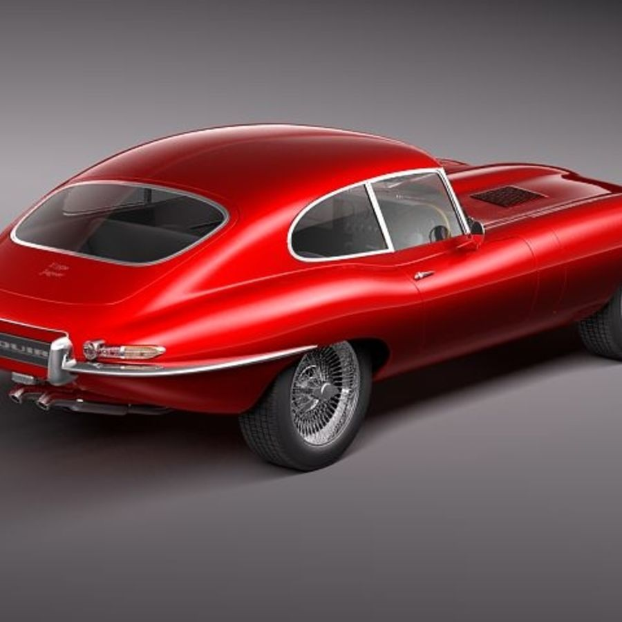 Ягуар E-type 1962 купе royalty-free 3d model - Preview no. 5