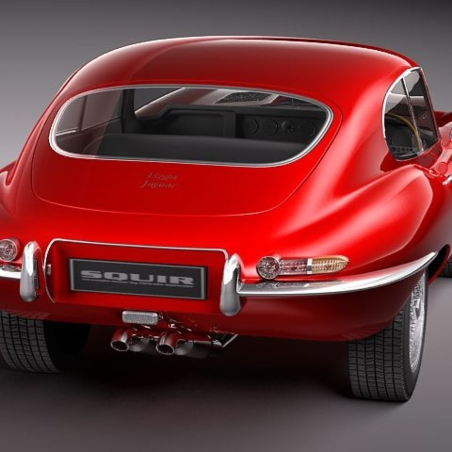 Ягуар E-type 1962 купе royalty-free 3d model - Preview no. 6