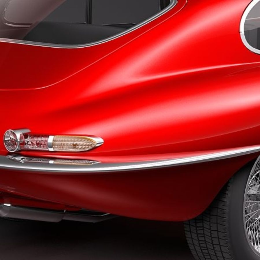 Ягуар E-type 1962 купе royalty-free 3d model - Preview no. 4