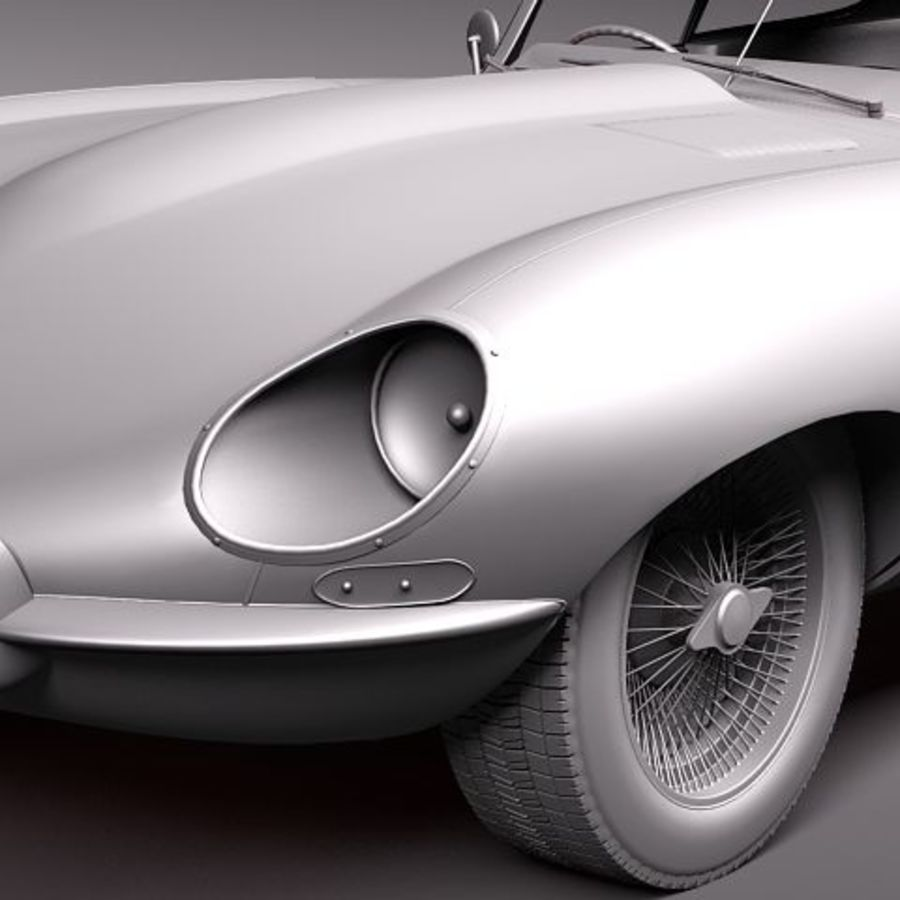 Ягуар E-type 1962 купе royalty-free 3d model - Preview no. 12