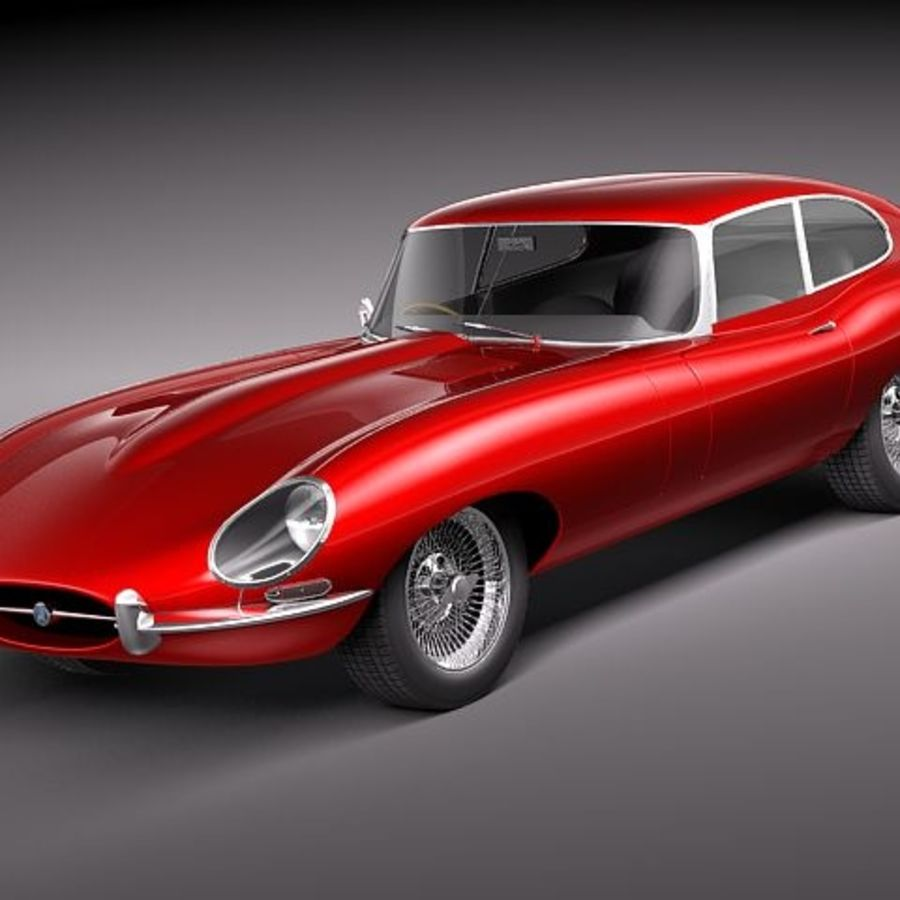 Ягуар E-type 1962 купе royalty-free 3d model - Preview no. 1