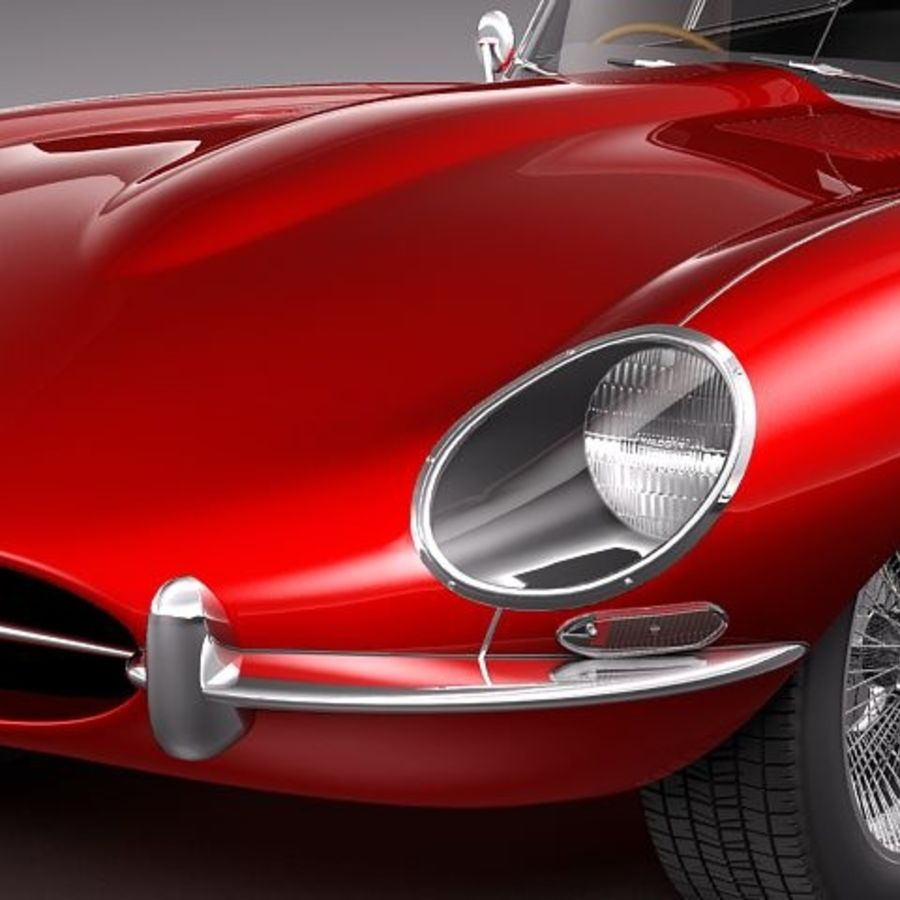 Ягуар E-type 1962 купе royalty-free 3d model - Preview no. 3
