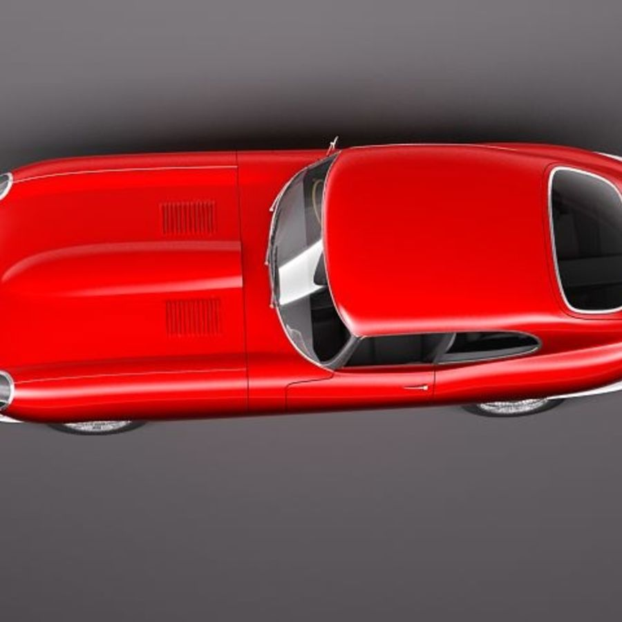 Ягуар E-type 1962 купе royalty-free 3d model - Preview no. 8