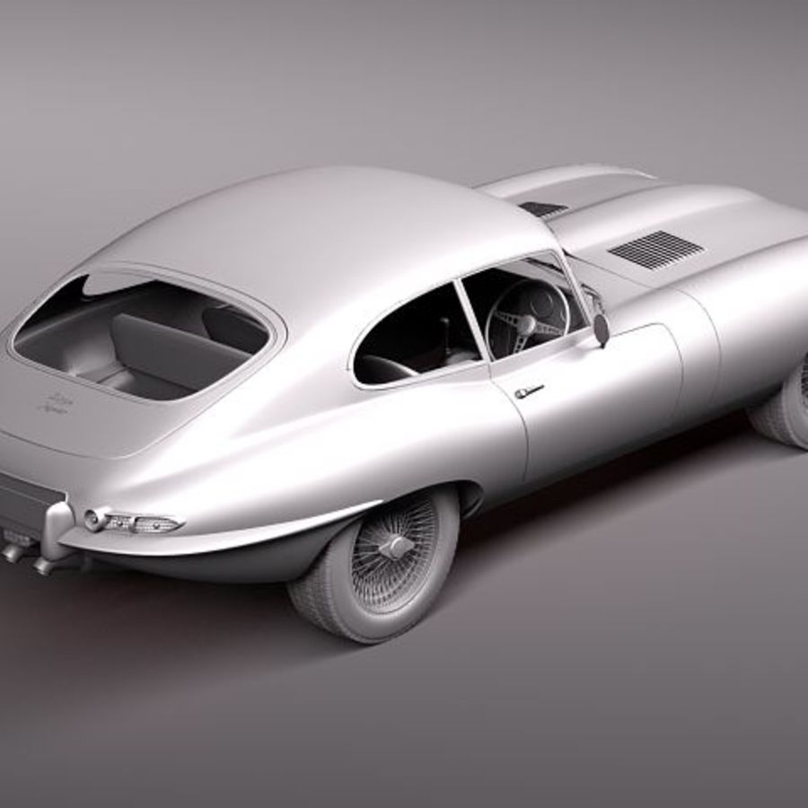 Ягуар E-type 1962 купе royalty-free 3d model - Preview no. 10