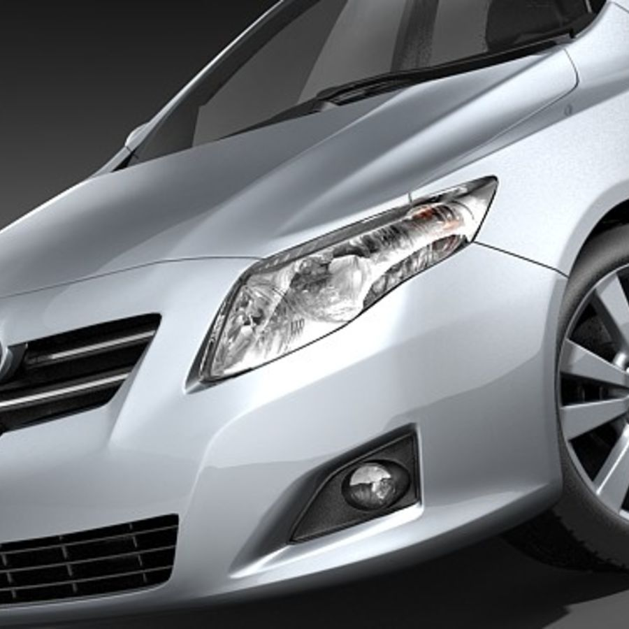 Toyota Corolla Sedan 2009 royalty-free 3d model - Preview no. 3