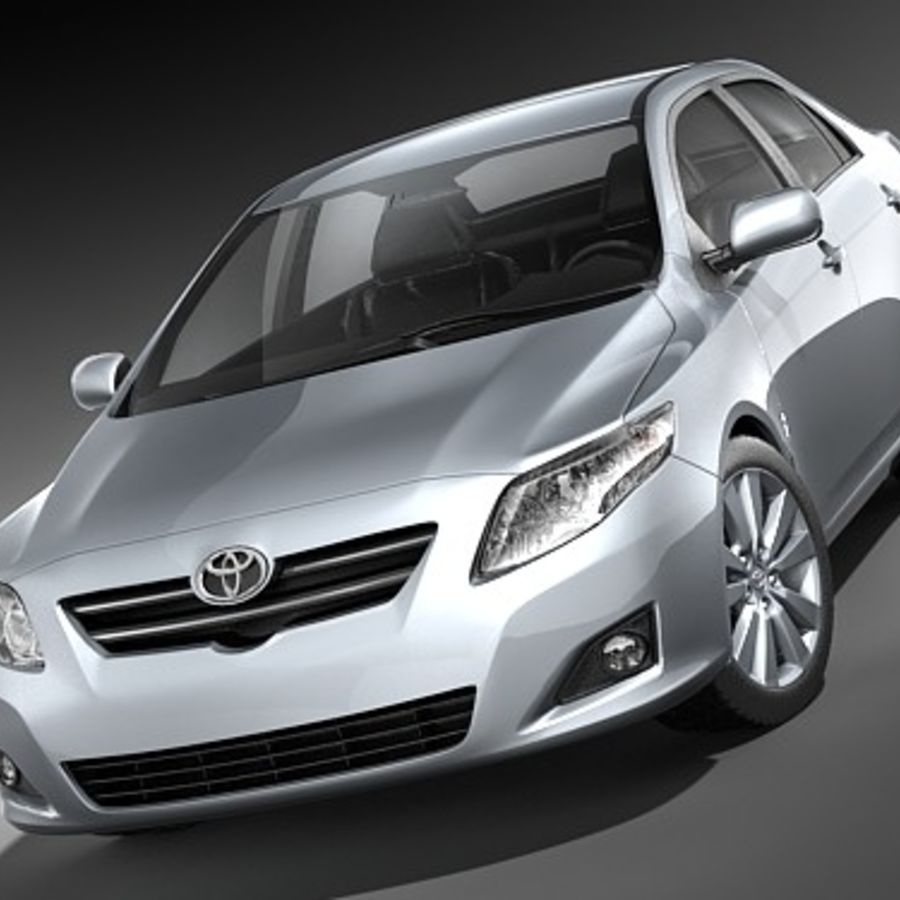 Toyota Corolla Sedan 2009 royalty-free 3d model - Preview no. 2