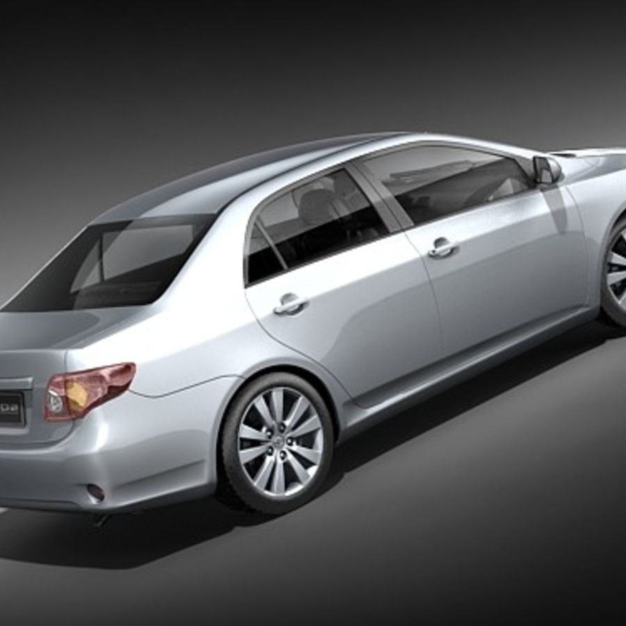 Toyota Corolla Sedan 2009 royalty-free 3d model - Preview no. 5