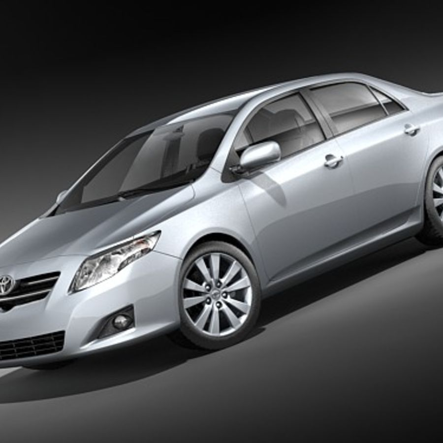 Toyota Corolla Sedan 2009 royalty-free 3d model - Preview no. 1