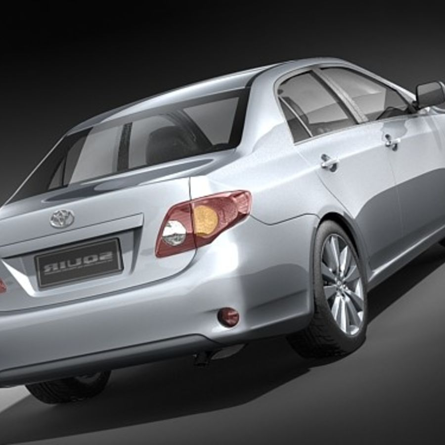 Toyota Corolla Sedan 2009 royalty-free 3d model - Preview no. 6