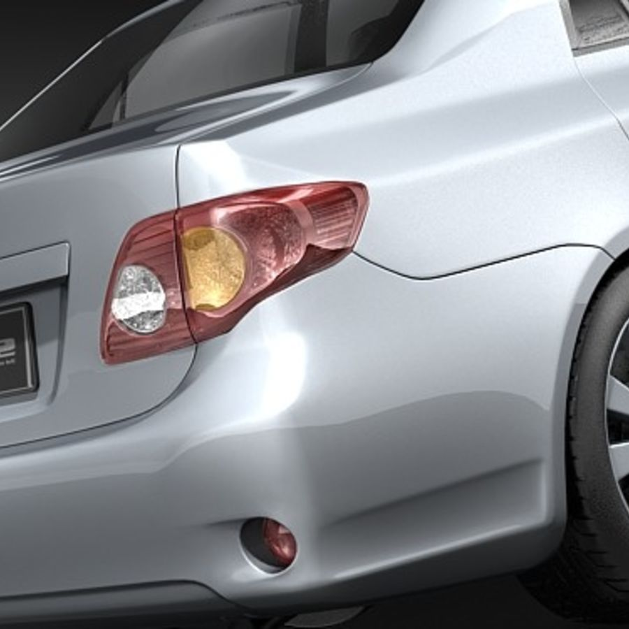 Toyota Corolla Sedan 2009 royalty-free 3d model - Preview no. 4