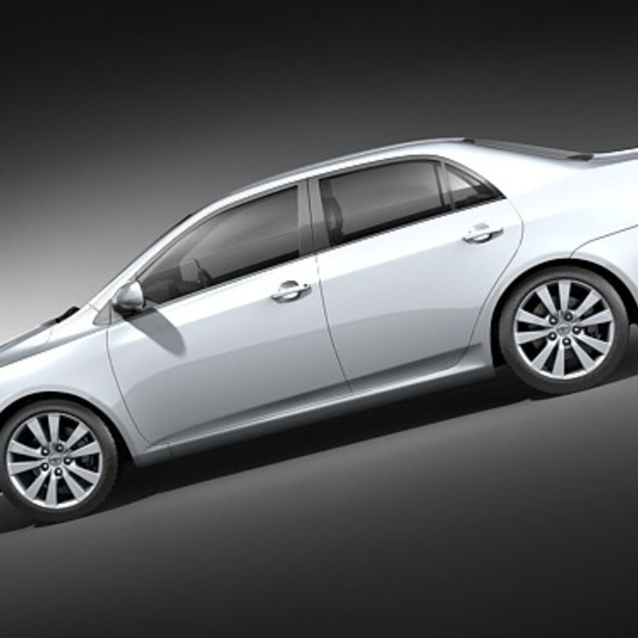 Toyota Corolla Sedan 2009 royalty-free 3d model - Preview no. 7