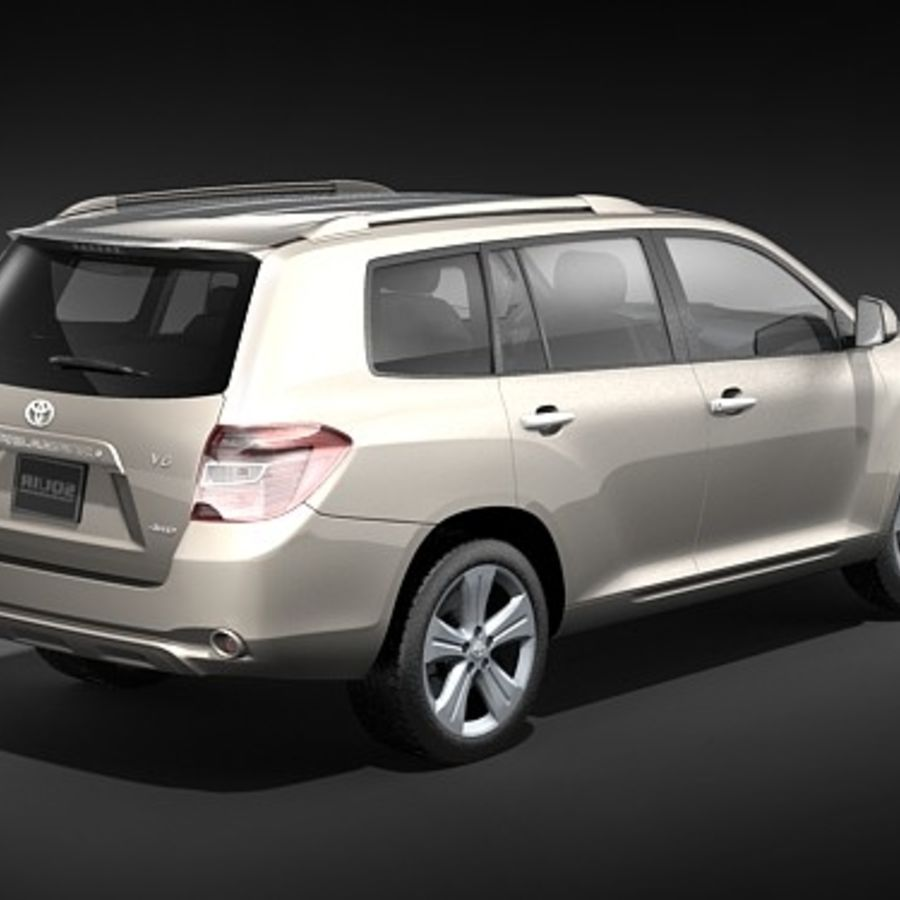 Toyota Highlander royalty-free 3d model - Preview no. 5