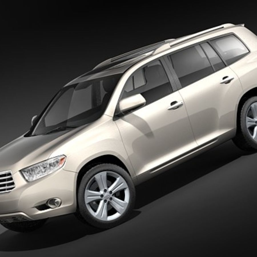 Toyota Highlander royalty-free 3d model - Preview no. 1