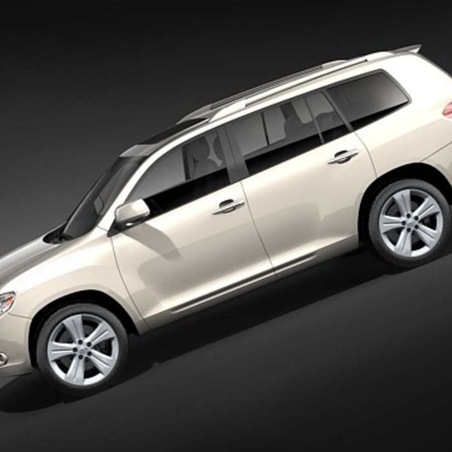 Toyota Highlander royalty-free 3d model - Preview no. 7