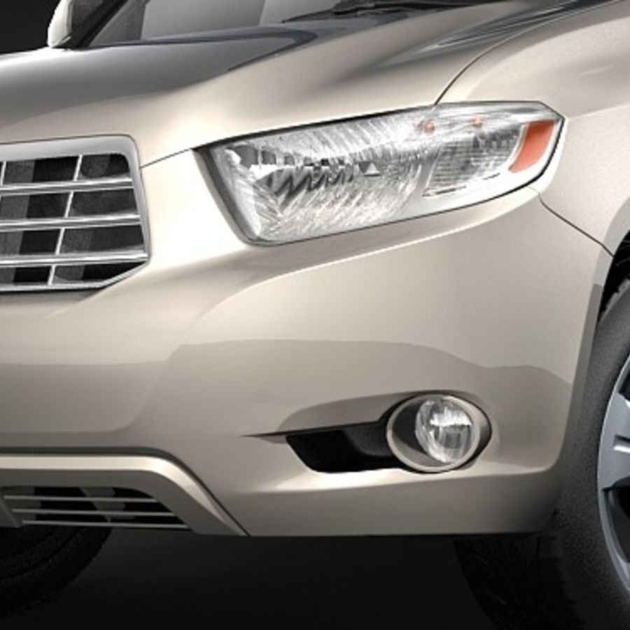 Toyota Highlander royalty-free 3d model - Preview no. 3