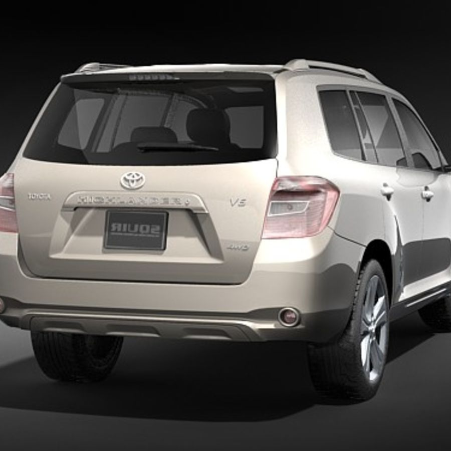 Toyota Highlander royalty-free 3d model - Preview no. 6